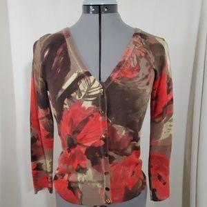 J.CREW Brown Earth Tone Cardigan Sweater Size  S